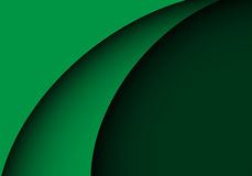Abstract green curve shape design modern luxury background vector Stock Photography