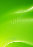 Abstract green with curved lines Stock Photos