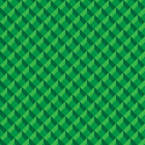 Abstract green 3d box design seamless pattern background. Vector illustration with swatches Stock Photos