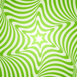 Abstract green design. Abstract vector geometric design with green stripes on a white background. Optical illusion with 3d effect vector illustration