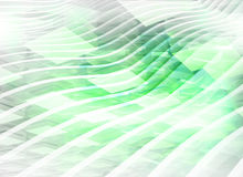 Abstract green digital background. Abstract digital background with light green boxes and waves vector illustration