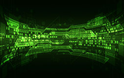 Abstract green digital communication technology background. Stock Images