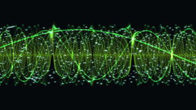 Abstract Green DNA Particle Chain stock video footage