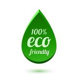 Abstract green drop, eco friendly icon. Vector illustration Royalty Free Stock Image