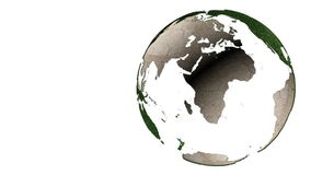 Abstract green Earth globe rotation stock video footage