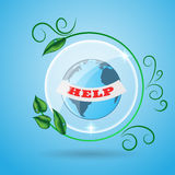 Abstract Green earth with leaves icon eps 10. Abstract Green earth with leaves icon eps10 Stock Photos