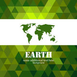 Abstract green Earth mosaic background Royalty Free Stock Image