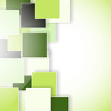 Abstract green eco background. With squares Stock Image