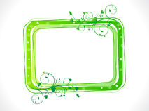 Abstract green eco floral frame template Stock Photos