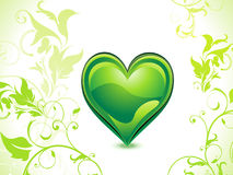 Abstract green eco heart Stock Photography