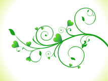 Abstract green eco heart plant Stock Photo