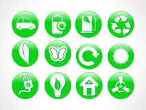 Abstract green eco icon. Illustration vector illustration
