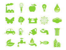 Abstract green eco icons Stock Image