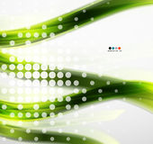 Abstract green eco line template Royalty Free Stock Images