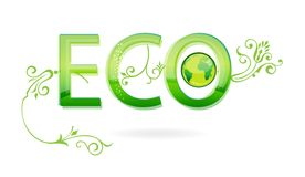 Abstract green eco symbol Stock Photos