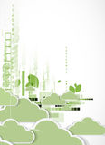 Abstract green eco technolgy business concept with cloud Stock Image