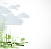 Abstract green eco technolgy business concept with cloud Stock Photography