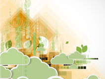 Abstract green eco technolgy business concept Stock Images