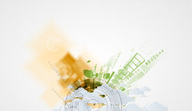 Abstract green eco technolgy business concept Royalty Free Stock Photography