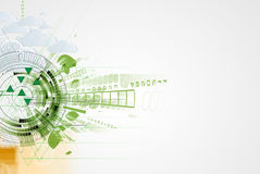 Abstract green eco technolgy business concept Royalty Free Stock Images