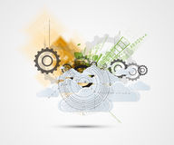 Abstract green eco technolgy business concept Stock Image