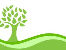 Abstract Green Eco Tree Background Stock Photo