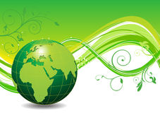 Abstract green eco wave background Stock Images