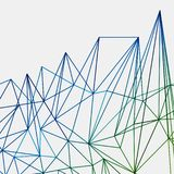 Abstract green end blue techno lines background, geometric. Technology network pattern royalty free illustration