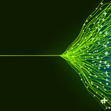 Abstract green energy design. EPS8 Stock Image