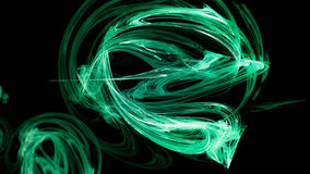 Abstract green energy snake Royalty Free Stock Image