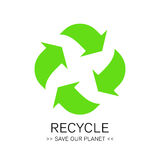 Abstract green environment recycle icon eco concept sign. Stock Photo