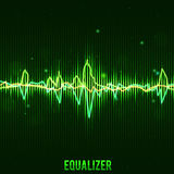 Abstract green equalizer wave form eps 10 Royalty Free Stock Photos