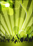 Abstract green event design Royalty Free Stock Photos