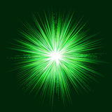 Abstract green explosion design background vector Royalty Free Stock Photo