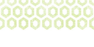 Abstract green fabric textured honeycomb cutout horizontal seamless pattern background Royalty Free Stock Photos