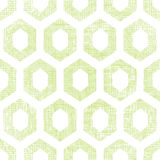 Abstract green fabric textured honeycomb cutout seamless pattern background Stock Images