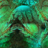 Abstract Green Fantasy Background Stock Photos