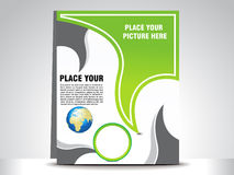 Abstract green flayer Royalty Free Stock Photo