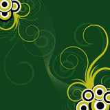 Abstract green floral background Stock Photography
