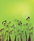 Abstract green floral background Royalty Free Stock Photography
