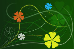 Abstract Green Floral Background Royalty Free Stock Photo