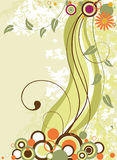 Abstract green floral background. Vector illustration Royalty Free Stock Photography