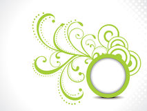 Abstract green floral background with cirlcle Stock Photo