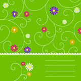 Abstract green floral background Royalty Free Stock Images