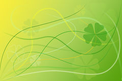 Abstract Green Floral Background Wallpaper. With swirls and clovers Royalty Free Stock Photography