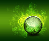Abstract green floral background. Or wallpaper vector illustration