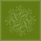 Abstract green floral design Royalty Free Stock Images