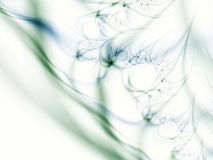 Abstract green floral lines Stock Photos