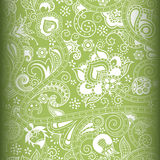 Abstract Green Floral Pattern Royalty Free Stock Photos
