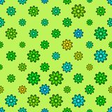Abstract green floral pattern. Seamless illustration. Stock Photos
